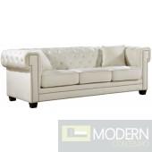laila Velvet Sofa CREAM