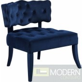 Charlotte blue velvet accent chair