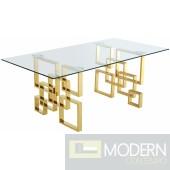 Donatella Gold Dining table