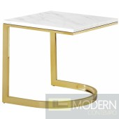 Lucca Gold End Table