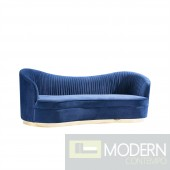 Velutto navy Sofa with Gold base