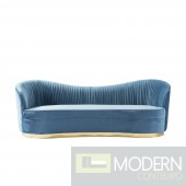 Velutto teal Sofa with Gold base