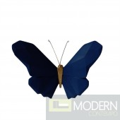 "Resin 6"" Origami butterfly wall hanging navy"