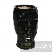 FACE PLANTER VASE, BLACK