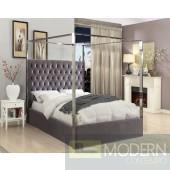 Pia velvet canopy bed