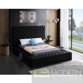 Hermes BLACK  Velvet Upholstered Bed LOCAL DMV DEALS