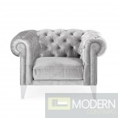 Chesterfield style Velvet Grey Chiar MCCA-2101482