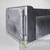 Taraba Velvet Chair CHARCOAL GREY VELVET WITH ACRYLIC FRAME