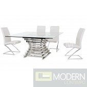 Zuliana Modern Square Glass Dining Table