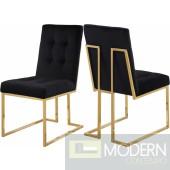 SIlvia Velvet Dining Chair GOLD
