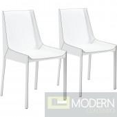 Fashion Dining Chair White - Set of 2 - LOCAL DMV DEALS