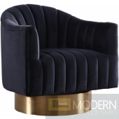 Hera velvet swivel accent chair gold base