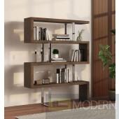 labyrinth Modern Walnut Bookcase