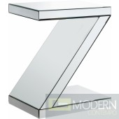 Zaria Mirrored End table