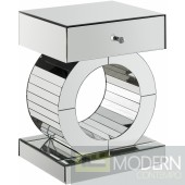 Mercury Mirrored End table