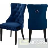 Amara Velvet Dining Chair - Set of 2 NAVY  Instore Item  DMV deals