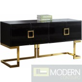 Italia Buffet | Console Table Black & Gold