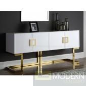 Italia Buffet   Console Table White & Gold
