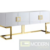 Italia Buffet | Console Table White & Gold