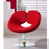 Pluto Adjustable Leisure Chair in Red microfiber