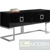 Italia Buffet | Console Table Black & Chrome