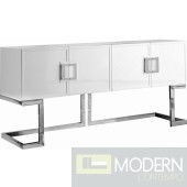 Italia Buffet | Console Table White & Chrome