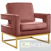 Athena Pink Velvet Accent chair gold base INSTORE ITEM LOCAL DMV DEALS