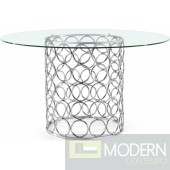 Aurora Dining table Chrome