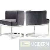 Franco Grey Velvet Dining Chair- Instore Item DMV deals