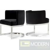 Franco Black Velvet Dining Chair- Instore Item DMV deals