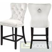 Amara IVORY VELVET Counter Bar stools  - IN STORE DMV DEAL