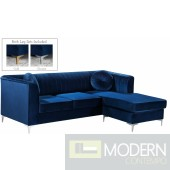 Amalia Velvet Reversible Sectional