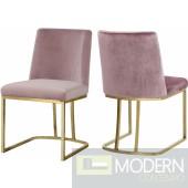 Helena Pink Velvet dining chairs - SET OF 2  InStore Item