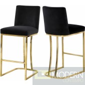 Helena GREY velvet bar stool - GOLD - LOCAL DMV DEALS