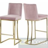 Helena BLUSH velvet bar stool - GOLD Instore Item DMV deals