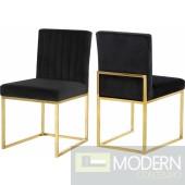 Jean Marie Velvet dining chair Set of 2 - Gold. Instore Item DMV deals