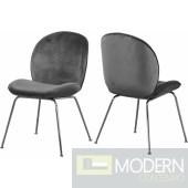 Petal Velvet Dining Chair CHROME