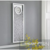 Lucca Modern Mirrored 35-Inch Crystal Wall Clock