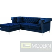 Danielle Navy Velvet Reversible Sectional  INSTORE ITEM LOCAL DMV DEALS
