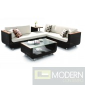 H01V2 - Sectional Patio Set with Coffee Table and Side Table