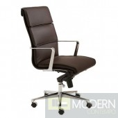 LEIF HIGH BACK OFFICE CHAIR BROWN