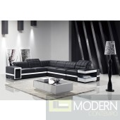 Modern Leather Sectional Sofa with Lights-MCNV102