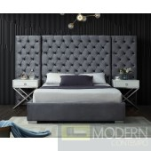 Grande Velvet king Upholstered Bed LOCAL DMV DEALS