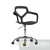 Angle Office Chair Black