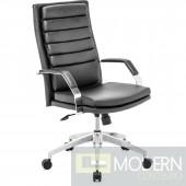 Zuo Modern Director Comfort Office Chair, Black/Chrome LOCAL DMV DEALS