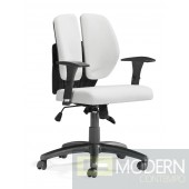 Aqua Office Chair White PU