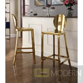 Madrid Gold Stainless Steel Bar Stool