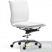 Zuo Modern Lider Plus Armless Office Chair in White DMV Local Deal