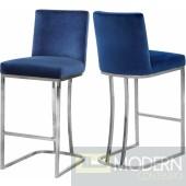Helena Navy velvet bar stool Chrome Instore Item DMV deals