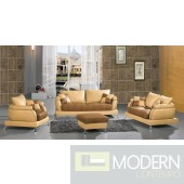 2222 Contemporary modern leather sofa set